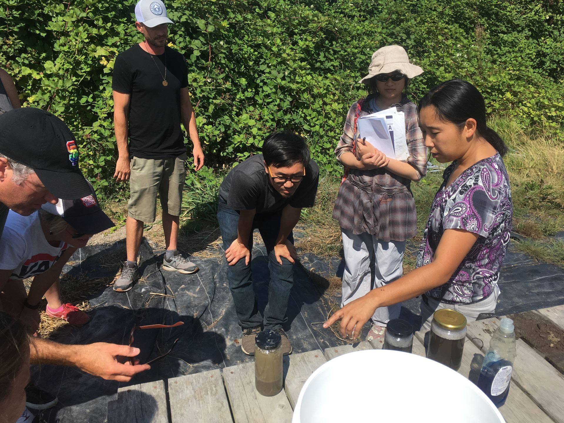 Yuko Suda leading summer drainage workshop (1)